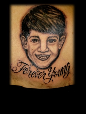 portrait of boy tattoo by tatupaul