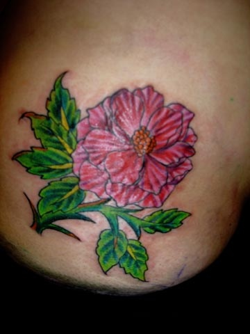 flower tattoo by tatupaul