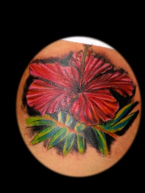realistic rose tattoo by tatupaul