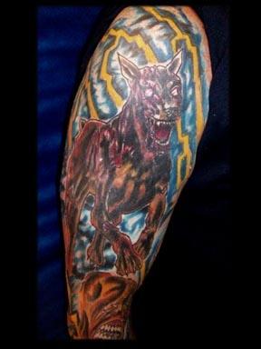 residentt evil dog tattoo by tatupaul.com