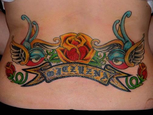 back swallow tattoo by tatupaul