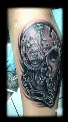 friday the 13th tattoo by tatupaul.com