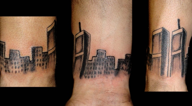 nyc buildings tattoo by tatupaul