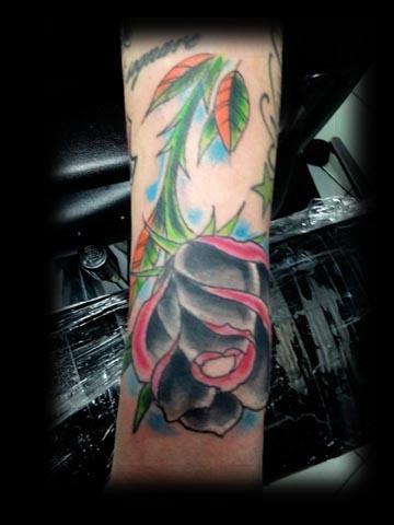 rose tattoo by tatupaul.com
