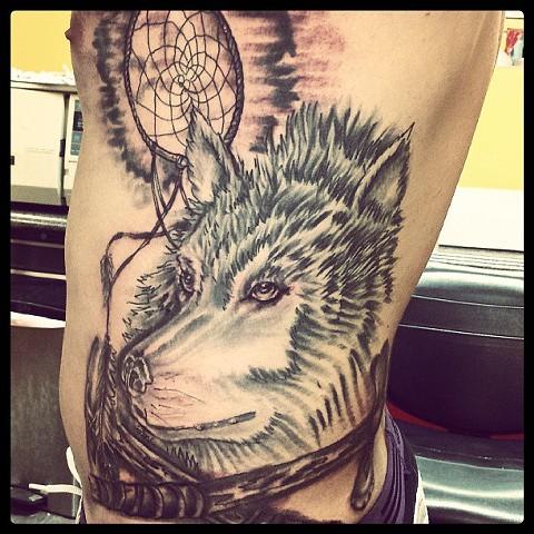 wolf tattoo by tatupaul.com