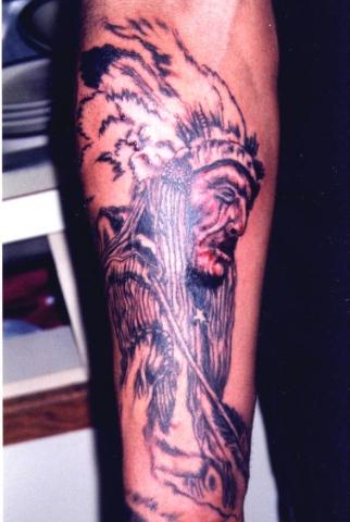 native indian tattoo by tatupaul