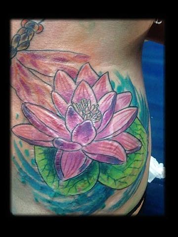 lotus float tattoo by tatupaul.com