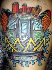 graffitti tattoo by tatupaul
