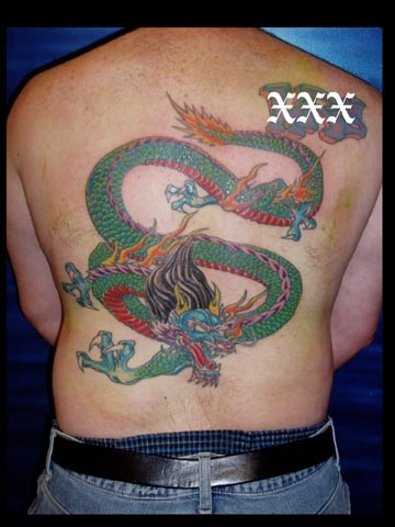 dragon work in progress tattoo by tatupaul.com