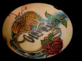 guitar hero tattoo by tatupaul.com