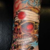 japanese skull tattoo by tatupaul