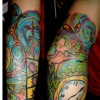 salvatore dali clocks tattoo by tatupaul