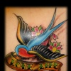 traditional swallows tattoo by tatupaul