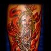 devil girl tattoo by tatupaul