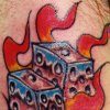 dice tattoo by tatupaul