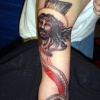jesus portrait tattoo by tatupaul