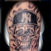 new york yankee skull tattoo by tatupaul