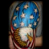 american flag eagle tattoo by tatupaul