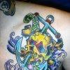 traditional american anchor tattoo by tatupaul