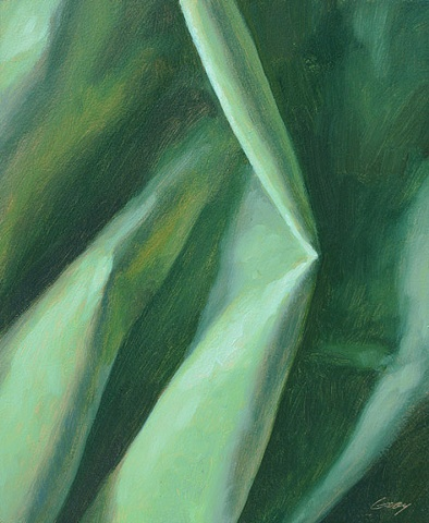 Mint green cloth, close up.