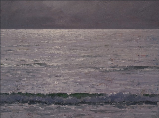 realist, sunlit, ocean, sea, water, horizon, reflections, painterly, nature, waves