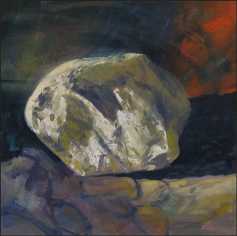oil, stone, rock, abstract, representational, colorful, painterly, landscape