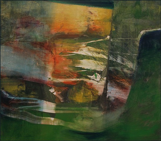 abstract, gestural, gestures, greens, reds, whites, organic, nature