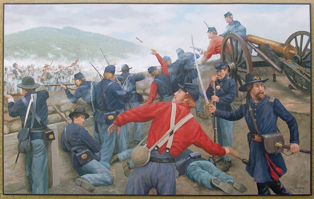 mural, outdoor mural, Civil War, historical illustration