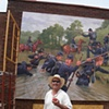 Working on the Cuba Mural