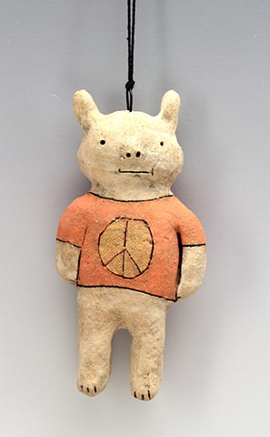 Peace Rabbit ornament