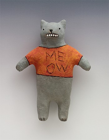 ceramic figure animal cat meow by Sara Swink