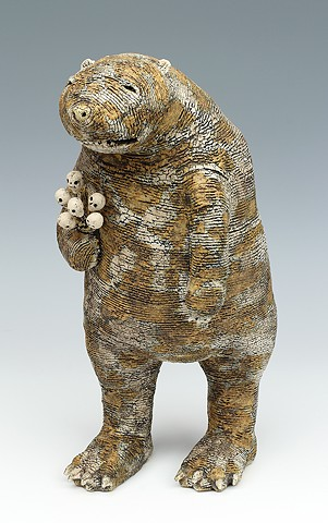 ceramic figure animal bear by Sara Swink