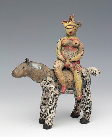 ceramic figure horse by Sara Swink