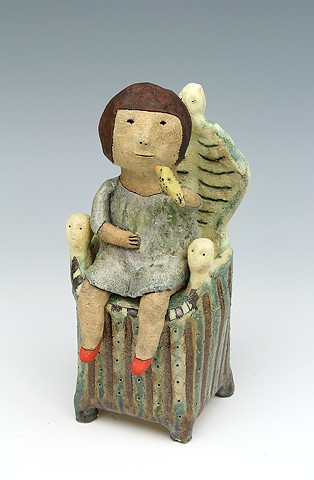 ceramic figure bird by Sara Swink