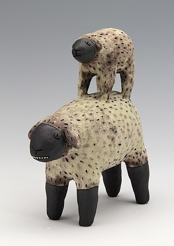 ceramic figure sheep by Sara Swink