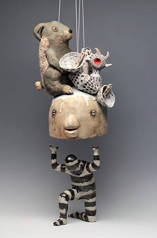 ceramic figure animal rabbit by Sara Swink