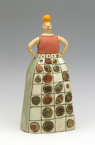 ceramic figure flower girl elements periodic table calendar by Sara Swink