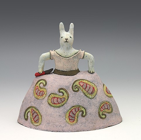 ceramic figure bunny rabbit by Sara Swink