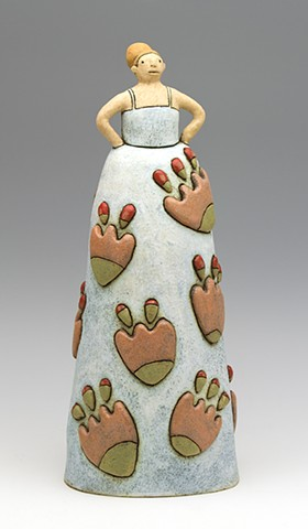 ceramic figure flower girl bloom by Sara Swink