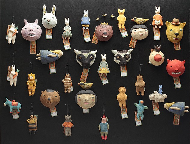 ceramic wall pieces by Sara Swink