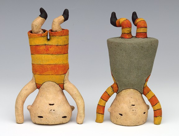 ceramic figures by Sara Swink