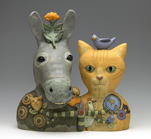 cat donkey Sara Swink bird flower teeth