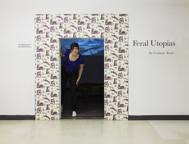 Photo documentation of Feral Utopias installation - Gallery Entrance