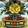 Yellow Rose Tattoo Flash Trade