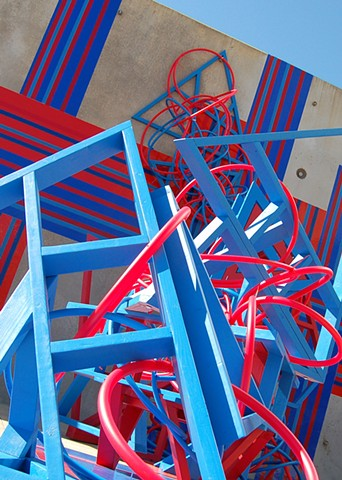 Heather Brammeier artwork sculpture installation PEX tubing immersive colorful abstract ArtPrize7 SENSE UICA