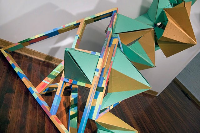 Heather Brammeier artwork installation sculpture colorful cardboard geometric abstraction Peoria