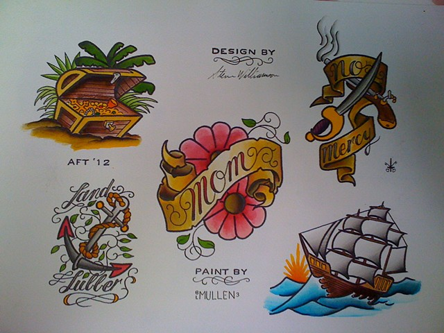 nautical flash sheet water color Providence Rhode Island RI anchor lighthouse