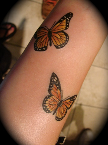 butterfly butterflies monarch tattoos color Providence Rhode Island RI
