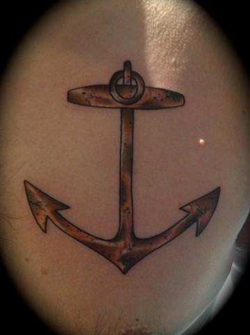 Providence, Prov, RI, Rhode Island, New England, Mass, Art Freek Tattoo, Good Tattoos grey work black and gray Color old school portrait clean anchor rusty lil rhody