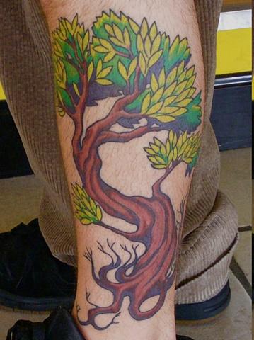 Tree Leg tattoo steven williamson tattoo artist providence rhode island (ri) tattoo Rhode Island Providence